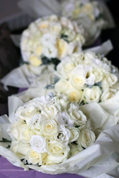 Ivory Hand Tied Bouquets